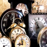 clocks group softly faded