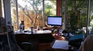 my staff & writing space